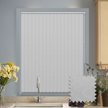 Vertical blinds - Made to Measure vertical blind in Lapwing White Blackout